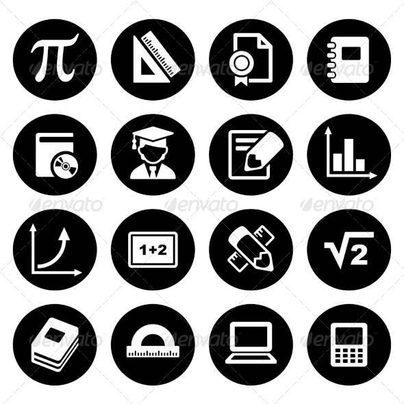 GraphicRiver Mathematics Icons Set 7838560