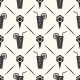 Seamless Pattern with Ice Cream & Cocktail - GraphicRiver Item for Sale