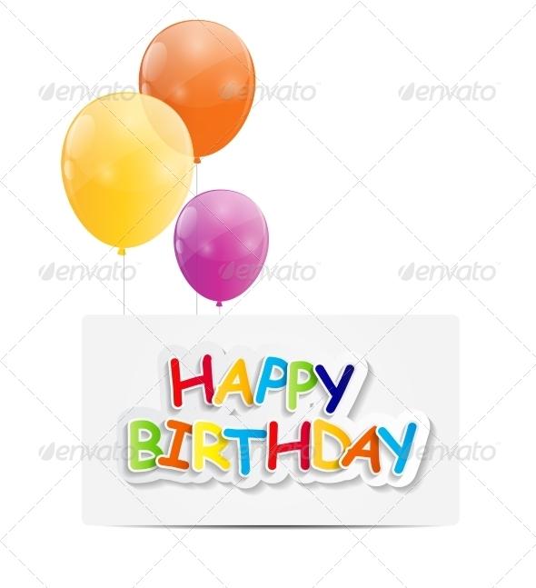 GraphicRiver Happy Birthday Card Illustration 7838789