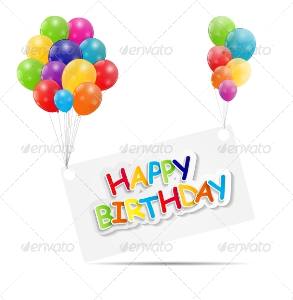 GraphicRiver Happy Birthday Card Illustration 7838791