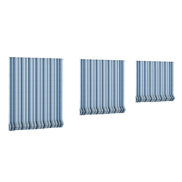 3DOcean Blue Striped Roman Blinds 7838824