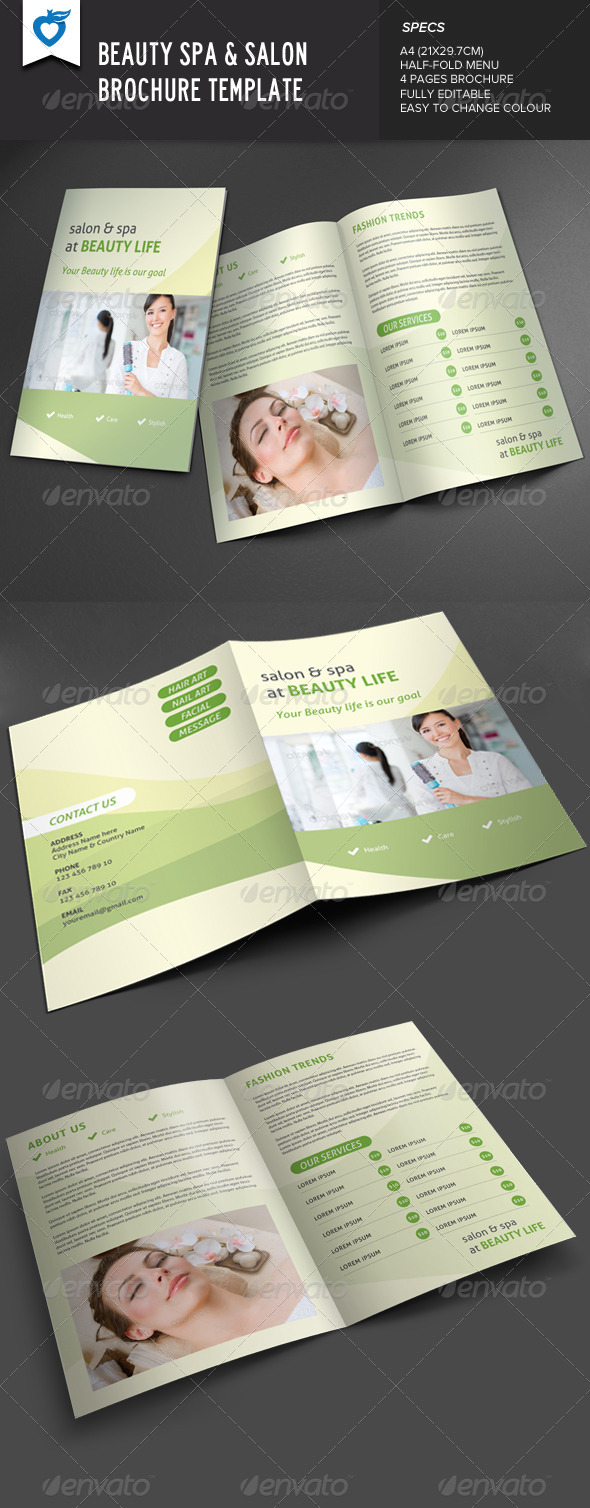 GraphicRiver Beauty Spa & Salon Brochure 7839350