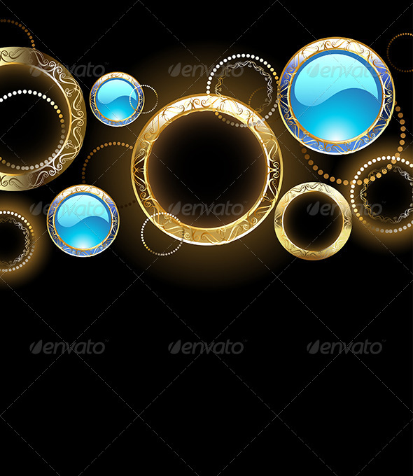 GraphicRiver Background with Golden Rings 7839454