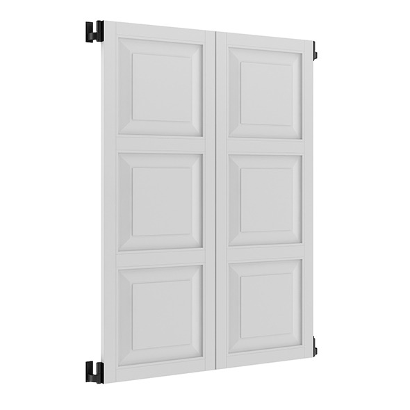 3DOcean White External Shutters 7839525