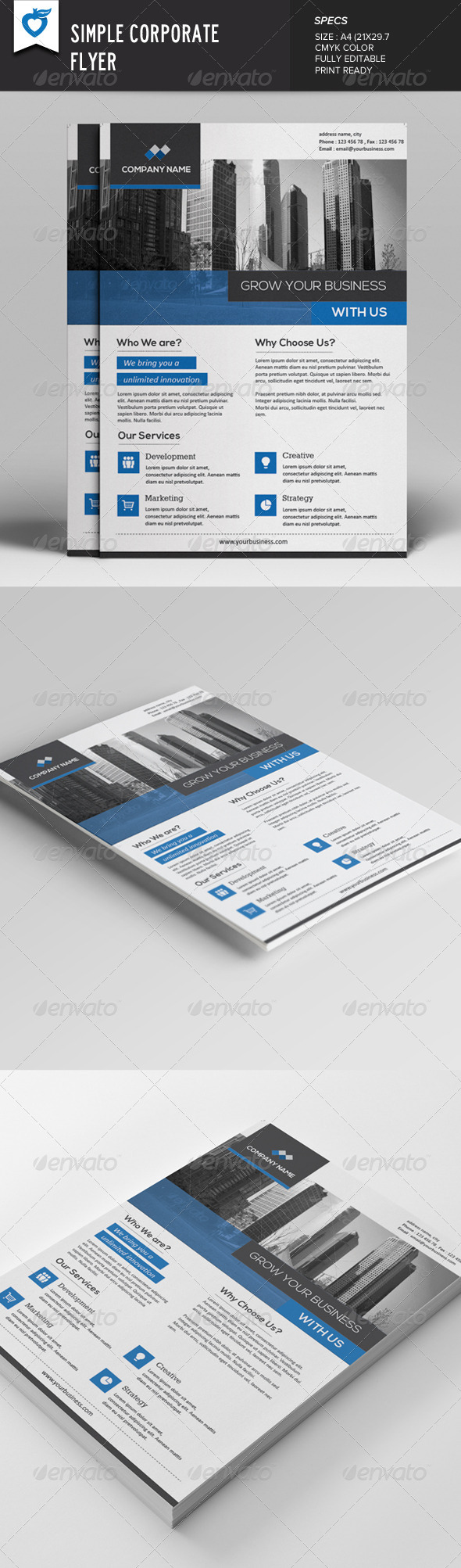 GraphicRiver Simple Corporate Flyer 7839827
