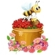 Basket of Red Roses and a Bee with a Honey - GraphicRiver Item for Sale