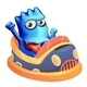 Bumpcar with a Blue Monster - GraphicRiver Item for Sale