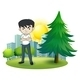 An Angry Man Near the Pine Tree - GraphicRiver Item for Sale