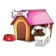 Dog Outside the Doghouse - GraphicRiver Item for Sale