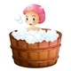 Smiling Girl Taking a Bath - GraphicRiver Item for Sale