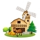 Horse Outside the Barnhouse at the Farm - GraphicRiver Item for Sale