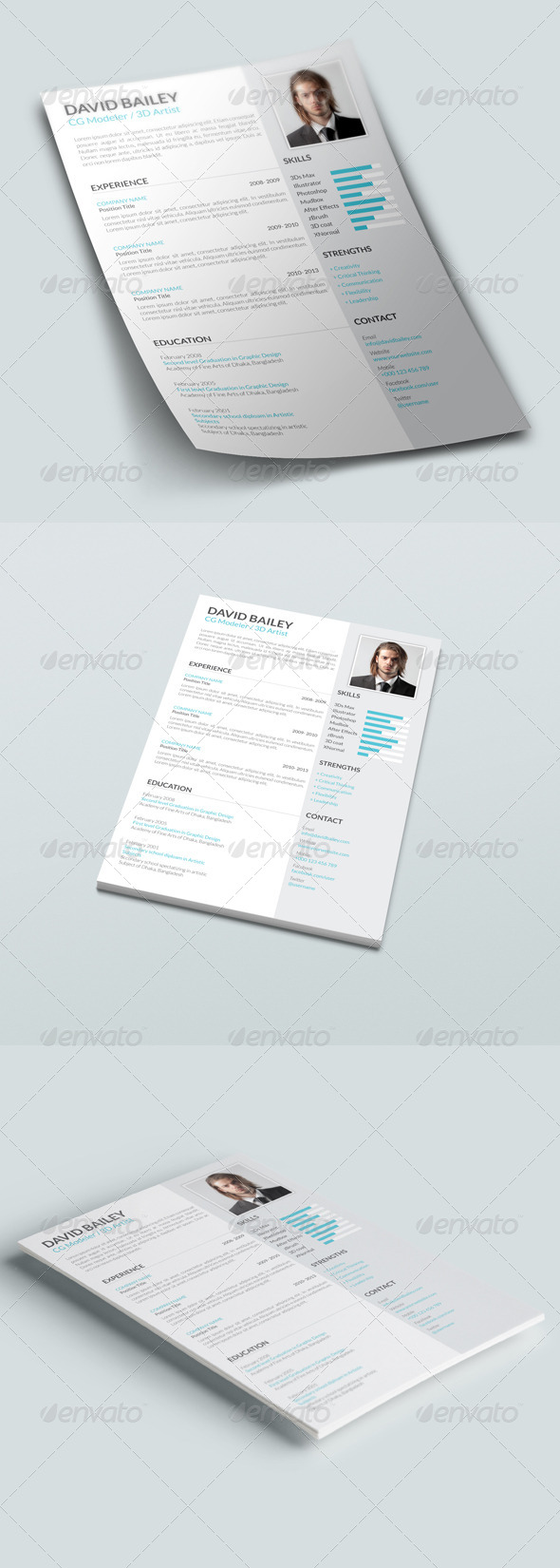 GraphicRiver Clean Modern Resume V4 7839990