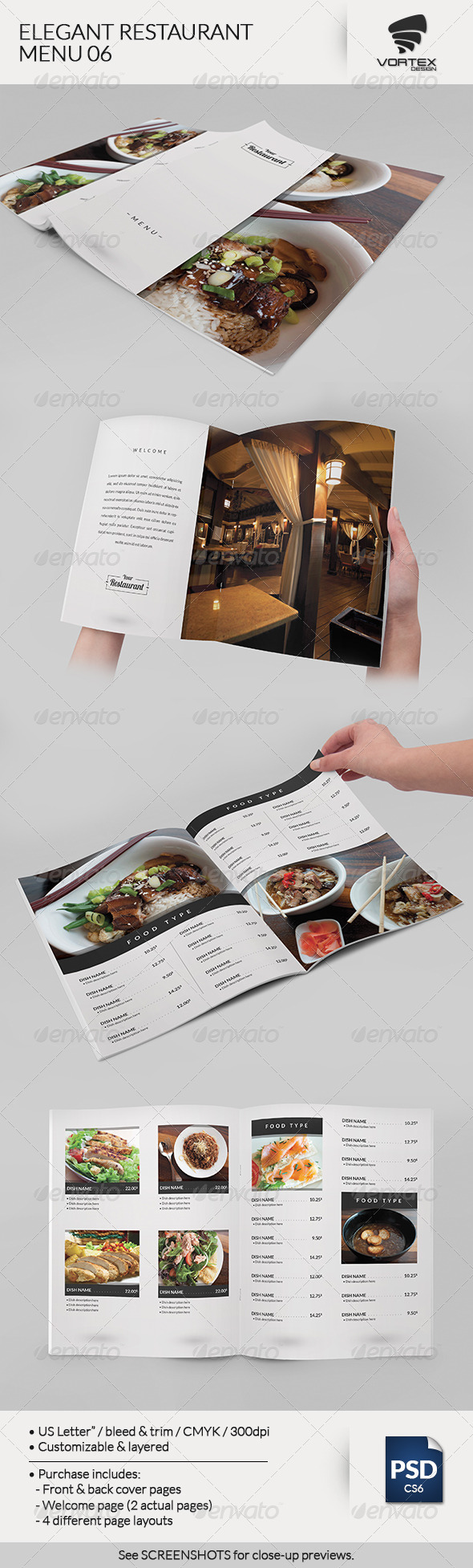 GraphicRiver Elegant Restaurant Menu 06 7840295