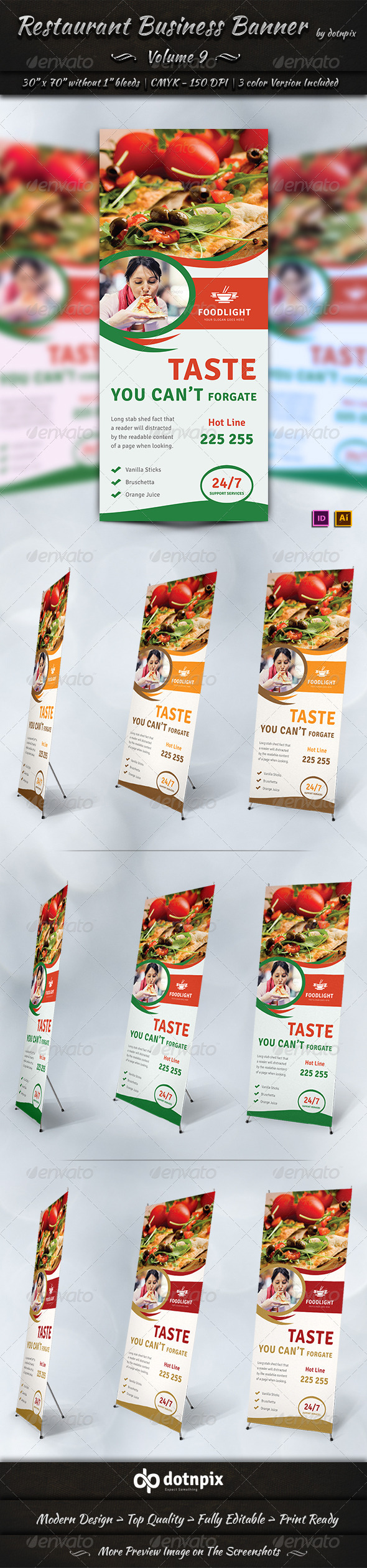 GraphicRiver Restaurant Business Banner Volume 9 7841227