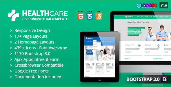 ThemeForest Health Care Responsive Medical Health Template 7771238
