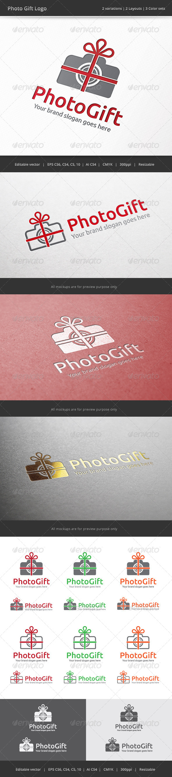 GraphicRiver Photo Gift Camera Logo 7841710