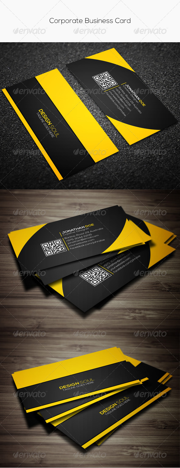 GraphicRiver Corporate Business Card 7841769