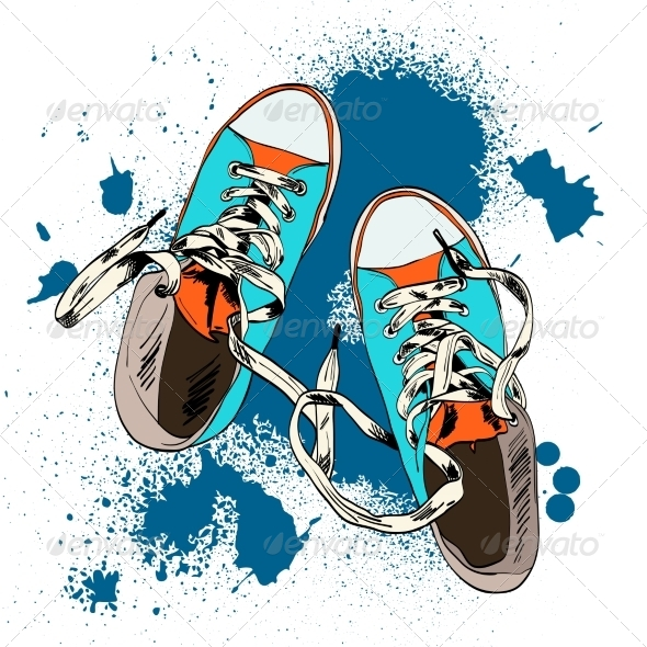 GraphicRiver Gumshoes Sketch Grunge 7842771