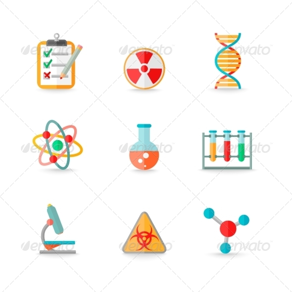 GraphicRiver Chemistry Icons Set 7842790