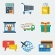 Shopping E-commerce Icons Flat - GraphicRiver Item for Sale