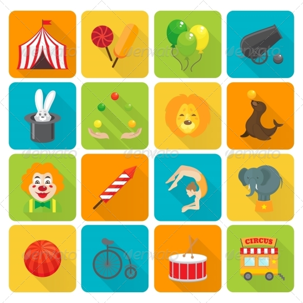 GraphicRiver Circus Icons Set 7842888