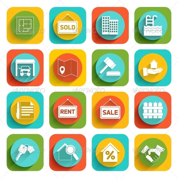 GraphicRiver Real Estate Icons 7842904