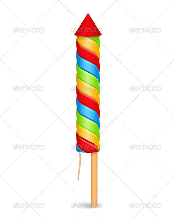 GraphicRiver Firework Rocket 7842956