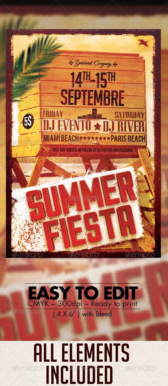 GraphicRiver Summer Fiesta Party Flyer 7843232
