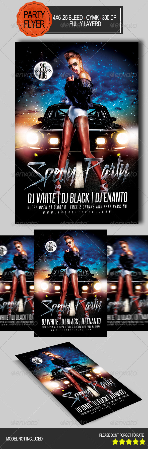 GraphicRiver Speddy Party Flyer 7843324