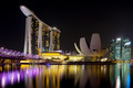 Marina Bay Sands Complex at Night - PhotoDune Item for Sale