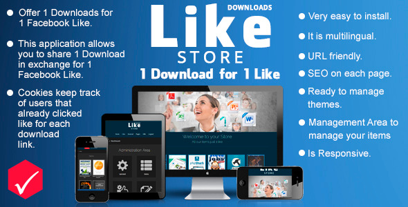 CodeCanyon Like Store Downloads 1 Download for just 1 Like 7827379