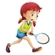 A young lady playing tennis - GraphicRiver Item for Sale