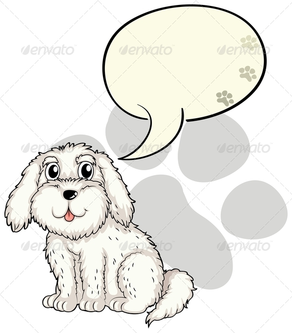 GraphicRiver A cute puppy with an empty callout 7844167