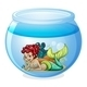 An aquarium with a mermaid - GraphicRiver Item for Sale