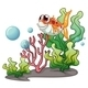 Smiling Fish with Corals - GraphicRiver Item for Sale