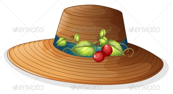 GraphicRiver Hat with cherries 7844359