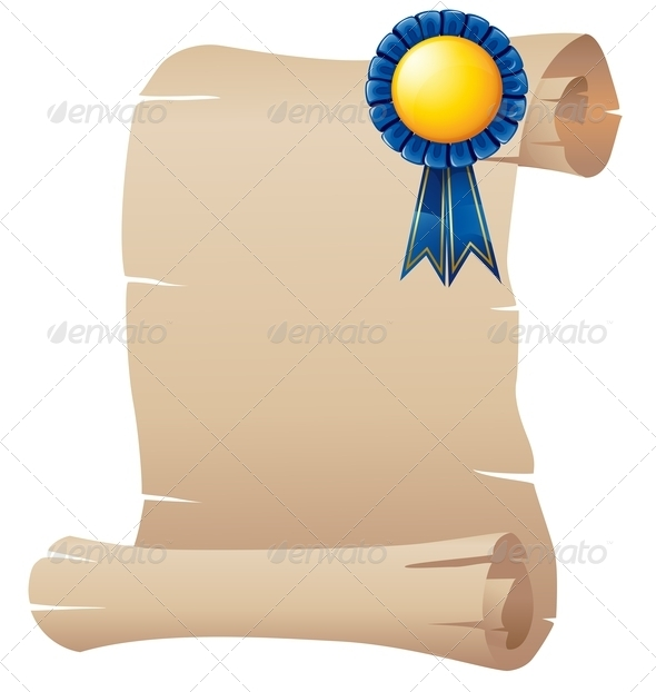 GraphicRiver Paper with a blue ribbon 7844516