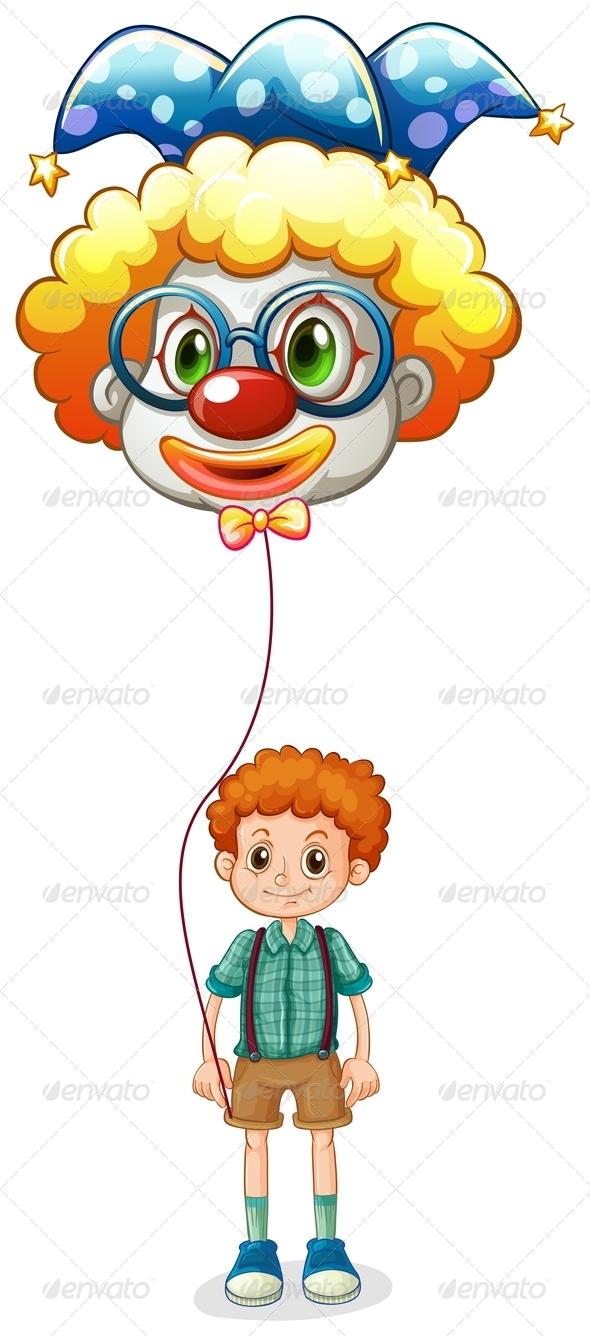 GraphicRiver Boy holding a clown balloon 7844585