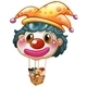 Clown balloon with kids in basket - GraphicRiver Item for Sale