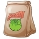 Paper bag with seeds - GraphicRiver Item for Sale