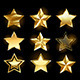 Set of Gold Stars - GraphicRiver Item for Sale