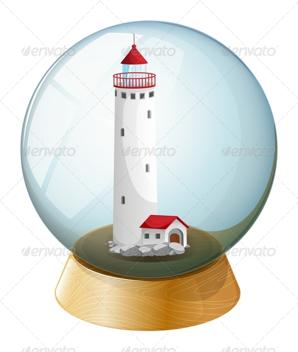 GraphicRiver Crystal ball with lighthouse 7844780