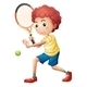A young tennis player - GraphicRiver Item for Sale