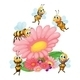 Big Flower with Bees - GraphicRiver Item for Sale