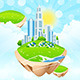 Business City on Island - GraphicRiver Item for Sale