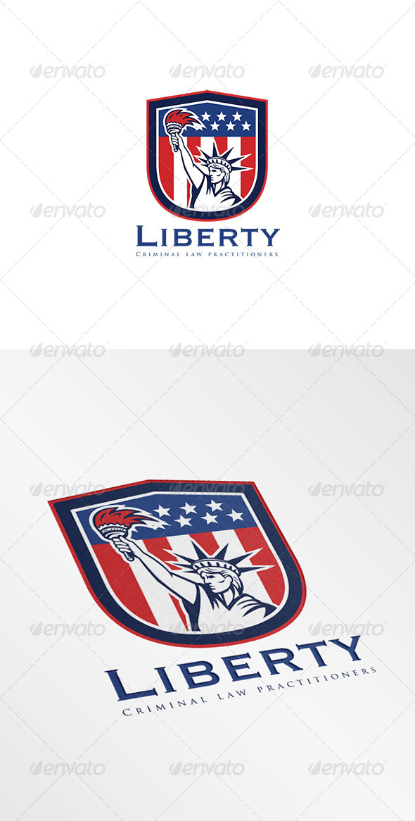 GraphicRiver Liberty Criminal Law Logo 7844920