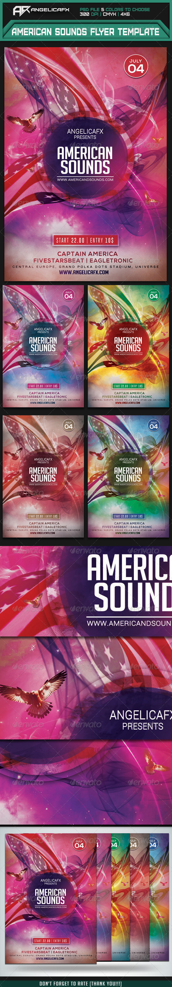 GraphicRiver American Sounds Flyer Template 7845301