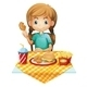 Hungry Girl Eating - GraphicRiver Item for Sale
