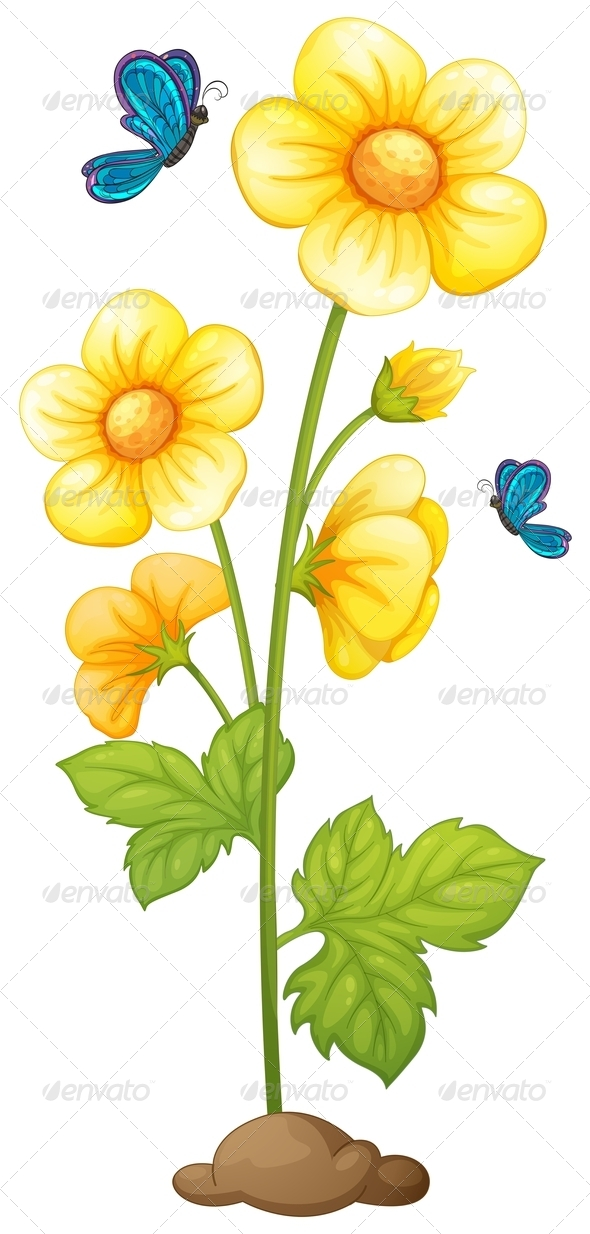 GraphicRiver Flowering Plant 7845315