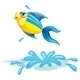 Fish Jumping out the Water - GraphicRiver Item for Sale